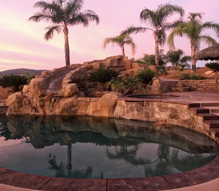 Pool Rock Slide
